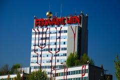 Hundertwasser Fernheizunganlage in Wien Stockfotos