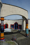 Hundertwasser Haus lizenzfreie stockbilder