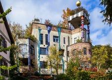Hundertwasser-Haus, schlechtes Soden, Deutschland lizenzfreie stockbilder