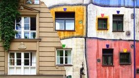 Hundertwasser Haus, Vienne Autriche photo stock