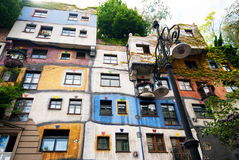 Hundertwasser Haus in Wenen Stock Afbeelding