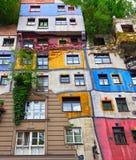 Hundertwasser Haus in Wien, Österreich. Stockbild