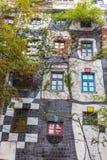Hundertwasser haus- Wien Stockbilder