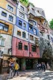 Hundertwasser Haus in Wien Stockbilder