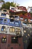 Hundertwasser hause Royalty-vrije Stock Afbeeldingen