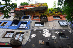 Hundertwasser house Royalty Free Stock Images