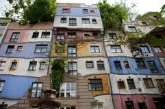 Hundertwasser house Royalty Free Stock Photos