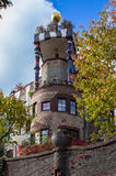 Hundertwasser house, Bad Soden, Germany Royalty Free Stock Image