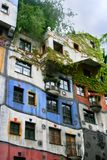 Hundertwasser House in Vienna Stock Images