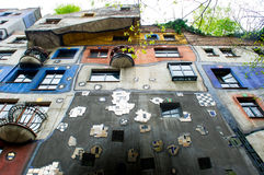 The Hundertwasser House in Vienna Royalty Free Stock Images