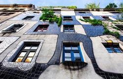 The Hundertwasser House in Vienna Royalty Free Stock Image