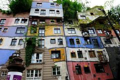 The Hundertwasser House Vienna royalty free stock images