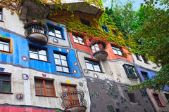 Hundertwasser House  in Vienna, Austria. Royalty Free Stock Images
