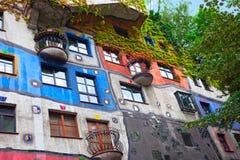 Hundertwasser House  in Vienna, Austria. Royalty Free Stock Images