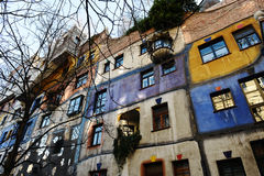 Hundertwasser house in Vienna Royalty Free Stock Images