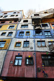 Hundertwasser house in Vienna Stock Photo