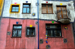 Hundertwasser house Royalty Free Stock Photography