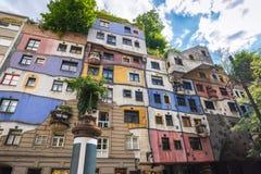 Hundertwasser house - Vienna - Austria Stock Image