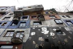 Hundertwasser House in Vienna, Royalty Free Stock Photo