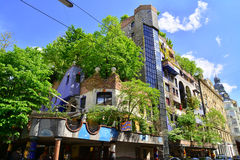 Hundertwasser house, vienna Royalty Free Stock Photography
