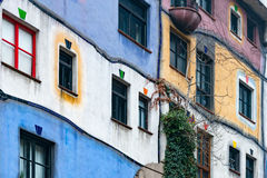 Hundertwasser house in Vienna, Austria, Europe Royalty Free Stock Photography