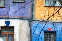 Hundertwasser house in Vienna, Austria, Europe Royalty Free Stock Photo