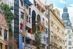 Hundertwasser house in Vienna, Austria, Europe Stock Photos