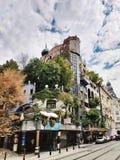 Hundertwasser house in Vienna, Austria royalty free stock photo