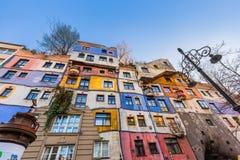 Hundertwasser house in Vienna Austria Royalty Free Stock Photography