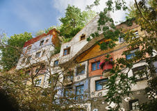 The Hundertwasser house in Vienna, Austria Stock Images