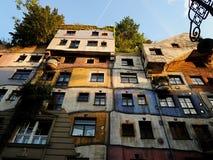 Hundertwasser House Vienna. The famous building - Hundertwasser house in Vienna Royalty Free Stock Image