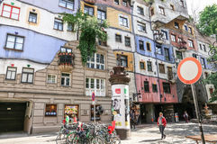 Hundertwasser house in Vienna royalty free stock photo