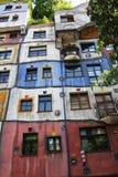 Hundertwasser house, Vienna Royalty Free Stock Images