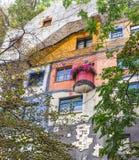Hundertwasser hus - Wien Arkivfoto
