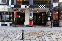 Hundertwasser museum i Wien royaltyfria foton