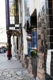 Hundertwasser museum i Wien royaltyfri foto