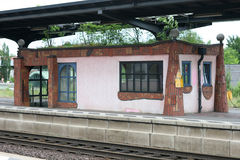 Hundertwasser railway station Uelzen stock photos
