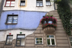 Hundertwasser's house in Vienna Stock Photography