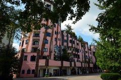 Hundertwasser ` s zieleni cytadela Magdeburski Obrazy Royalty Free
