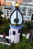 Hundertwasser ` s zieleni cytadela Magdeburski Zdjęcie Royalty Free