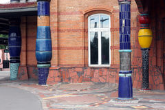 Hundertwasser stacja kolejowa Uelzen Fotografia Stock