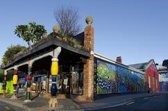Hundertwasser Toilets in Kawakawa NZ Stock Photo