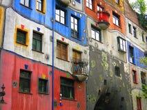 Hundertwasser village Royalty Free Stock Images