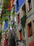 Hundertwasser village Royalty Free Stock Photo