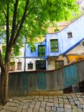 Hundertwasser village in Vienna Stock Image