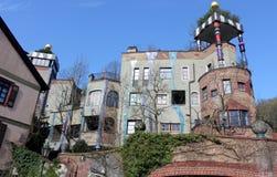Hundertwasserhaus在陶努斯山麓巴德索登,德国 图库摄影