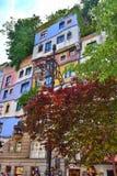 Hundertwasserhaus大厦 免版税库存照片