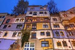 Hundertwasserhaus,维也纳,奥地利 免版税库存图片