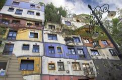 Hundertwasserhaus. Images libres de droits
