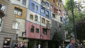 Hundertwasserhaus απόθεμα βίντεο
